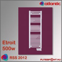Atlantic RSS 2012 - 500W - elektromos törölközőszárító, 40 cm széles, fehér
