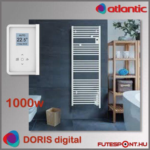 Atlantic Doris Digital BLC- 1000W - elektromos törölközőszárító, programtermosztát, fehér
