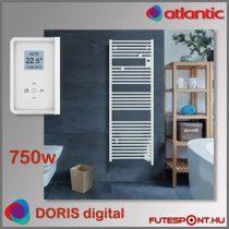 Atlantic Doris 3 Digital - 750W - elektromos törölközőszárító, programtermosztát, fehér