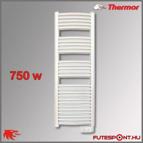 Thermor Corsaire 750W - elektromos törölközőszárító termosztáttal, íves, fehér
