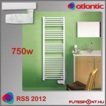Atlantic RSS 2012 - 750W - termosztátos elektromos törölközőszárító, fehér