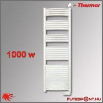 Thermor Corsaire 1000W - elektromos törölközőszárító termosztáttal, íves, fehér