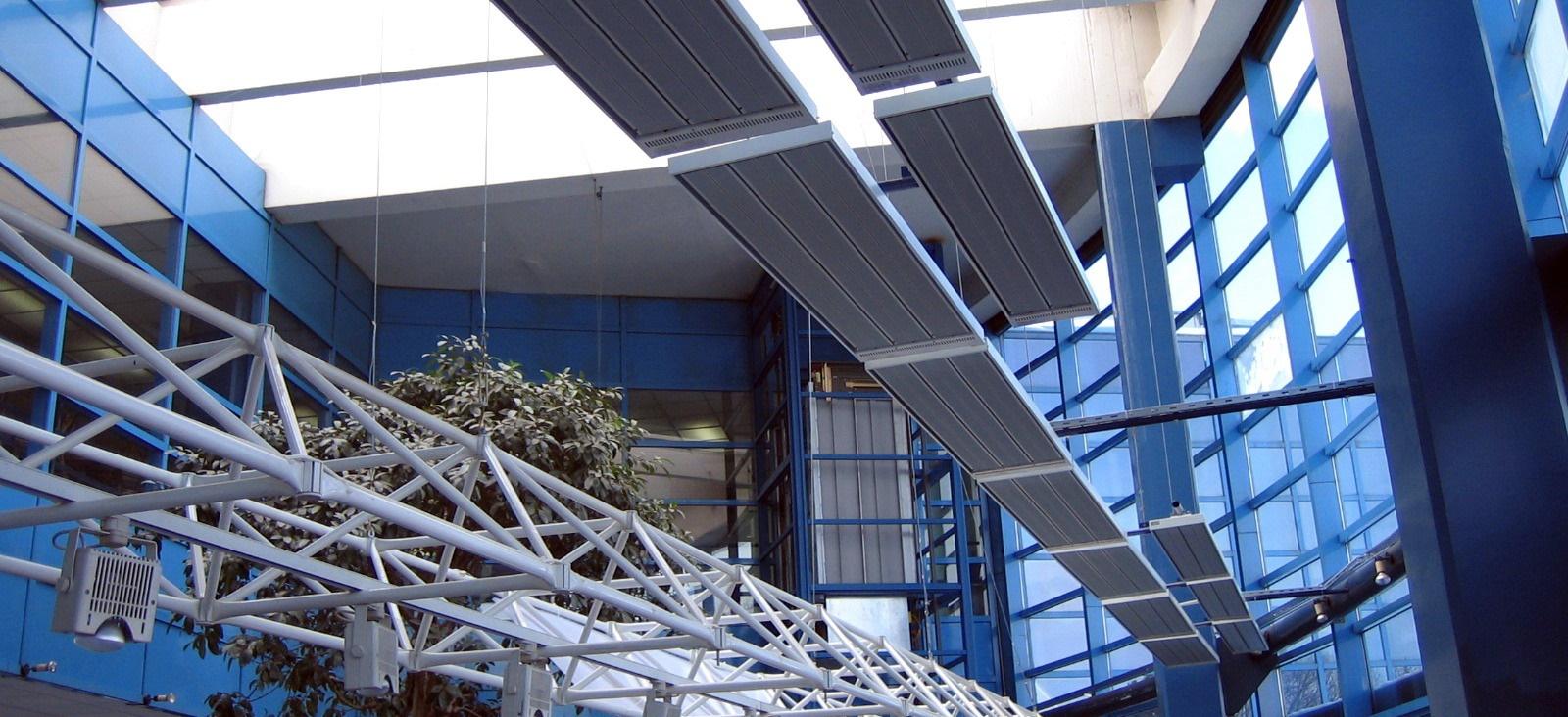 Energotech svéd ipari elektromos fűtés, elektromos infra csarnokfűtés,infra hősugárzó